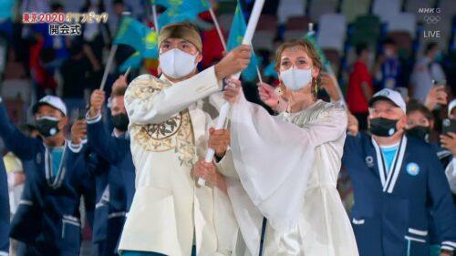 【東京五輪開会式】カザフスタンの女性旗手(選手)は誰?リアル姫と話題